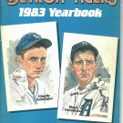1983 Detroit Tigers Yearbook Charlie Gehringer Hank Greenberg Cover