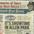 April 14 2009 Detroit Free Press Memories Of Mark Fidrych Detroit Tigers Newspaper The Bird