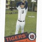2008 Topps Trading Card History Justin Verlander Detroit Tigers Baseball Card
