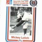 1988 Dominos Pizza Mickey Lolich Detroit Tigers Baseball Card SGA