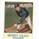 1975 Hostess Mickey Lolich Detroit Tigers Baseball Card Oddball
