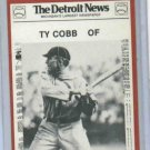 1981 Detroit News Ty Cobb Detroit Tigers Baseball Card Oddball