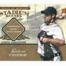 2008 Upper Deck Piece Of History Stadium Scenes Justin Verlander Detroit Tigers /99