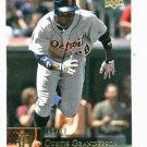 2009 Upper Deck Curtis Granderson Detroit Tigers Baseball Card Serial #D 46/99