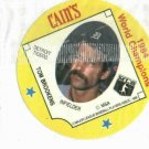 1985 Cains Chips Tom Brookens Detroit Tigers Baseball Disc Card 1984 World Champions Unopened