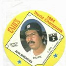 1985 Cains Chips Juan Berenguer Detroit Tigers Baseball Disc Card 1984 World Champions Unopened