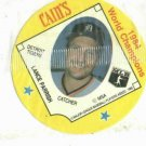1985 Cains Chips Lance Parrish Detroit Tigers Baseball Disc Card 1984 World Champions Unopened