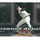 1999 Upper Deck Black Diamond Debut Jeff Weaver Detroit Tigers Baseball Card Rookie