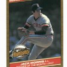 1986 Donruss Highlights Jack Morris Detroit Tigers Baseball Card Oddball
