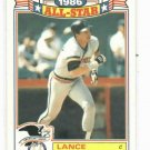 1987 Topps All Star Glossy Commerative Lance Parrish Detroit Tigers Baseball Card