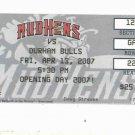 2007 Toledo Mud Hens Opening Day Ticket Stub Mudhens