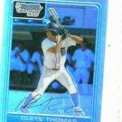2006 Bowman Chrome Refractor Clete Thomas Detroit Tigers Baseball Card #D /500