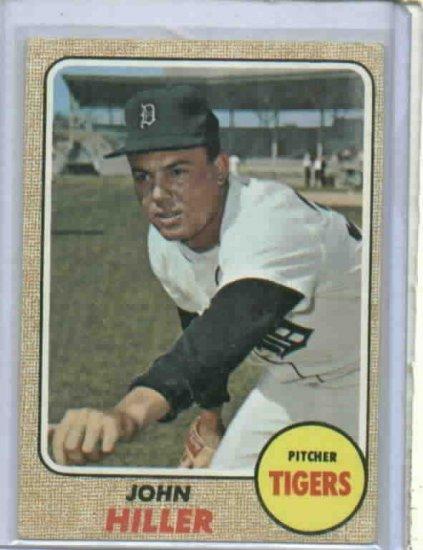 1968 Topps John Hiller Detroit Tigers Baseball Card 307