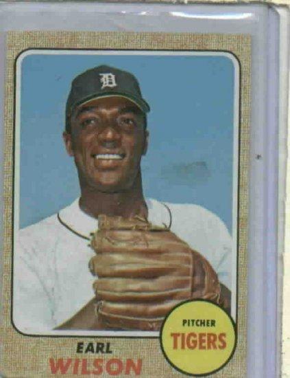 1968 Topps Earl Wilson Detroit Tigers Baseball Card 160