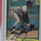 1982 Donruss Tom Brookens Detroit Tigers Baseball Card Autographed Auto