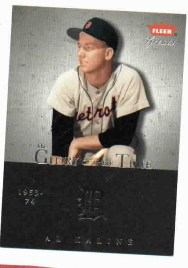2004 Fleer Greats Glory Of There Time Al Kaline Detroit Tigers Baseball Card #D /1955