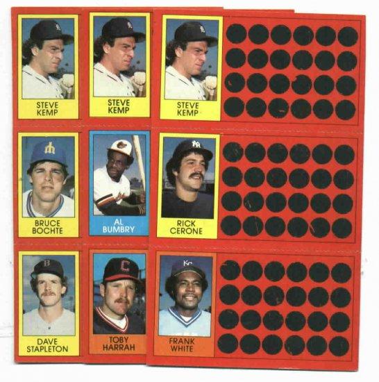 1981 Topps Scratch Offs Steve Kemp 3 Diff. Variations Detroit Tigers Oddball