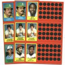 1981 Topps Scratch Off Champ Summers 3 Diff. Variations Detroit Tigers Oddball