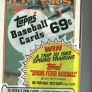 1988 Topps Unopened Cello Pack Darrell Evans Detroit Tigers Front