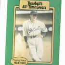Baseballs All Time Greats Charlie Gehringer Detroit Tigers Baseball Card Oddball