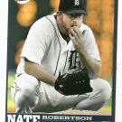2006 Detroit Free Press Nate Robertson Baseball Card Tigers Oddball