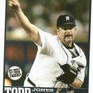 2006 Detroit Free Press Todd Jones Baseball Card Tigers Oddball