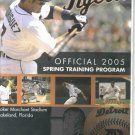 2005 Detroit Tigers Spring Training Program Ivan Rodriguez Cover