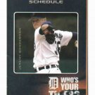 2006 Detroit Tigers Schedule Jeremy Bonderman