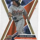 2008 Upper Deck X Gold Magglio Ordonez Detroit Tigers Baseball Card