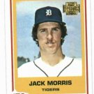 2001 Topps Archives Jack Morris Detroit Tigers 78 Rookie Reprint