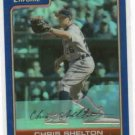 2006 Bowman Chrome Blue Refractor Chris Shelton Detroit Tigers #D / 150