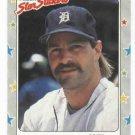 1988 Fleer Star Stickers Kirk Gibson Detroit Tigers Oddball