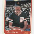 1985 Fleer Limited Edition Jack Morris Detroit Tigers Oddball