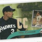 2002 Topps Coaches Collection Alan Trammell Bat Card Detroit Tigers Padres Cubs