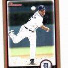 2010 Bowman Gold Justin Verlander Detroit Tigers