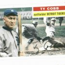 2010 Topps 1956 Vintage Legends Ty Cobb Detroit Tigers