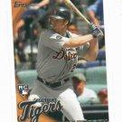 2010 Topps Brennan Boesch Detroit Tigers ROOKIE