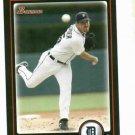2010 Bowman Justin Verlander Detroit Tigers