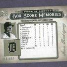 2008 Upper Deck Piece Of History Box Score Memories Ivan Rodriguez Detroit Tigers #D / 699