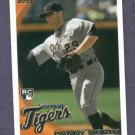 2010 Topps Update Danny Worth Detroit Tigers Rookie