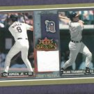 2002 Fleer Rival Factions Cal Ripken Alan Trammell Jersey Card Detroit Tigers Orioles