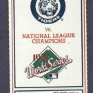1987 Detroit Tigers Phantom World Series Ticket Game 7