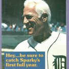 1980 Detroit Tigers Ticket Order Form Sparky Anderson Oddball