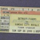 Very Rare Detroit Tigers Stadium Final Weekend Sep 26 1999 Ticket Stub Embossed