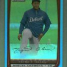 2008 Bowman Chrome Blue Refractor Miguel Cabrera Detroit Tigers