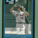 2006 Bowman Draft Matt Joyce Detroit Tigers Rookie Tampa Bay Rays