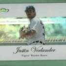 2007 Topps Finest Moment Rookie Roars Justin Verlander Detroit Tigers