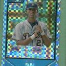 2007 Bowman Chrome Draft X Fractor Vincent Blue Detroit Tigers Rookie #D /275
