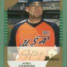 2005 Bowman Draft Picks Gold Joel Zumaya Detroit Tigers Rookie