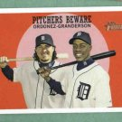 2008 Topps Heritage Pitchers Beware Magglio Ordonez Curtis Granderson Detroit Tigers